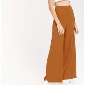 Forever 21 High Wasted Wide Leg Paints in Rust